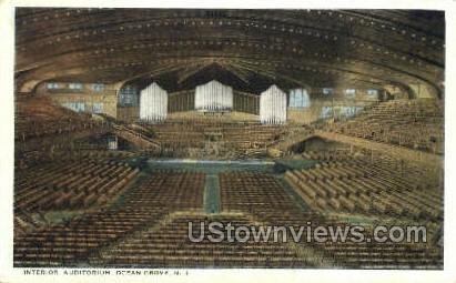 Interior Auditorium  - Ocean Grove, New Jersey NJ Postcard
