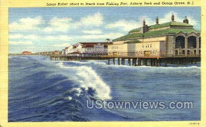 Large Roller About To Break - Ocean Grove, New Jersey NJ Postcard