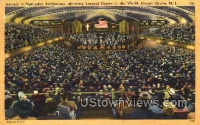 Methodist Auditorium - Ocean Grove, New Jersey NJ Postcard