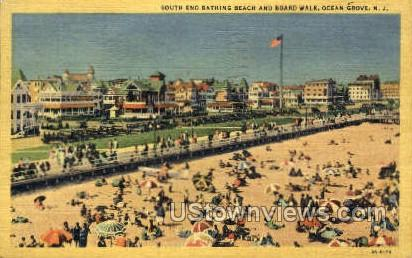 South End Bathing Beach - Ocean Grove, New Jersey NJ Postcard