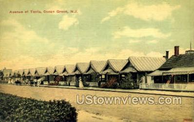 Avenue Of Tents - Ocean Grove, New Jersey NJ Postcard