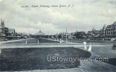 Ocean Pathway - Ocean Grove, New Jersey NJ Postcard