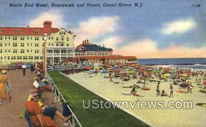 North End Hotel - Ocean Grove, New Jersey NJ Postcard