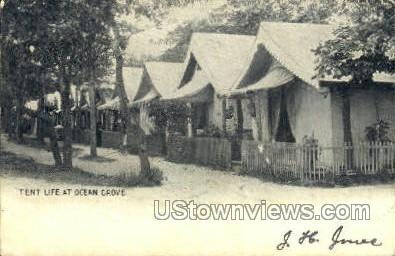Tent Life - Ocean Grove, New Jersey NJ Postcard