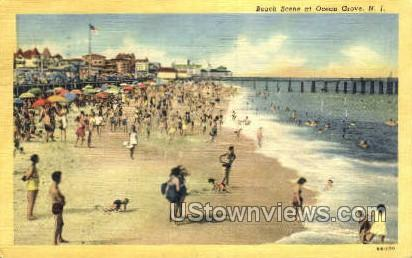 Beach - Ocean Grove, New Jersey NJ Postcard