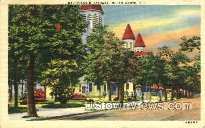 Pilgrim Pathway - Ocean Grove, New Jersey NJ Postcard