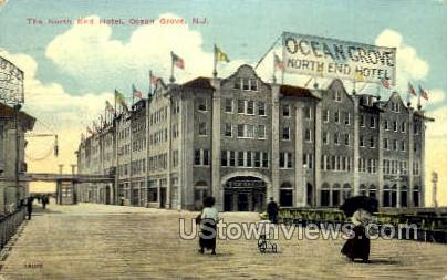 The North End Hotel - Ocean Grove, New Jersey NJ Postcard