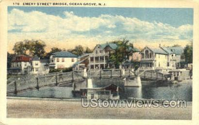Emery Street Bridge - Ocean Grove, New Jersey NJ Postcard