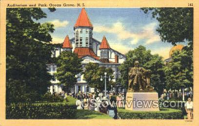 Auditorium And Park - Ocean Grove, New Jersey NJ Postcard