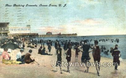 Ross Bathing Beach - Ocean Grove, New Jersey NJ Postcard