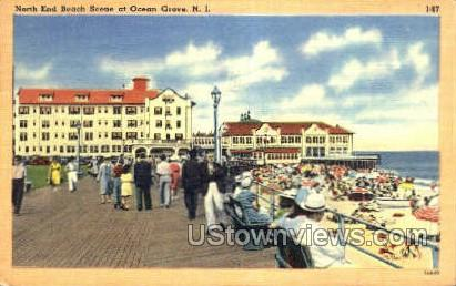 North End Beach - Ocean Grove, New Jersey NJ Postcard