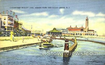 Casino And Wesley Lake  - Ocean Grove, New Jersey NJ Postcard