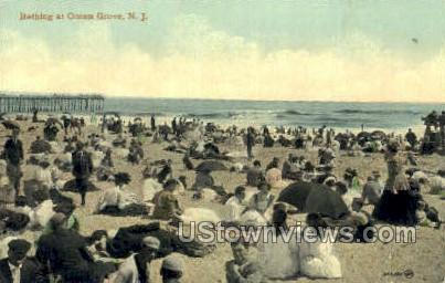 Bathing At The Beach - Ocean Grove, New Jersey NJ Postcard