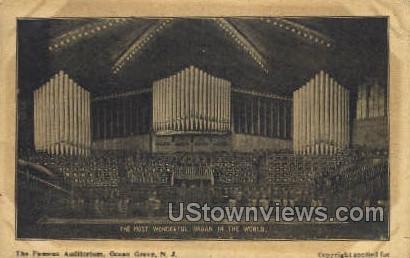 Huge Organ - Ocean Grove, New Jersey NJ Postcard