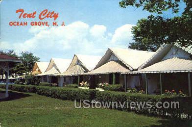 Tent City - Ocean Grove, New Jersey NJ Postcard