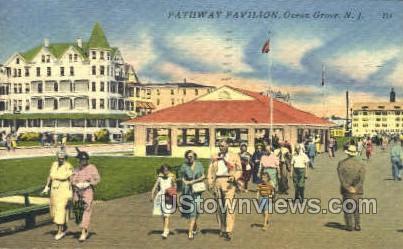 Pathway Pavilion - Ocean Grove, New Jersey NJ Postcard