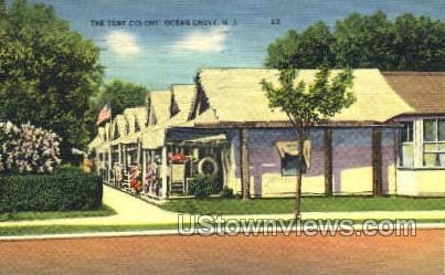 The Tent Colony - Ocean Grove, New Jersey NJ Postcard