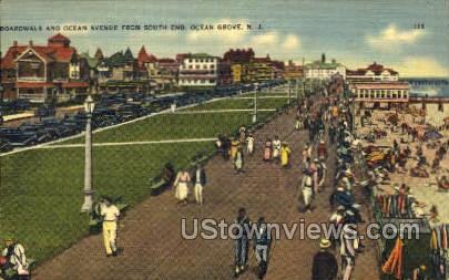 Boardwalk - Ocean Grove, New Jersey NJ Postcard