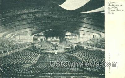 Interior Of Auditorium - Ocean Grove, New Jersey NJ Postcard