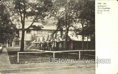 An Avenue Of Tent Dwellers - Ocean Grove, New Jersey NJ Postcard