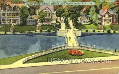 Emory Street Bridge - Ocean Grove, New Jersey NJ Postcard