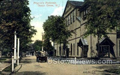 Pilgrims Pathway - Ocean Grove, New Jersey NJ Postcard