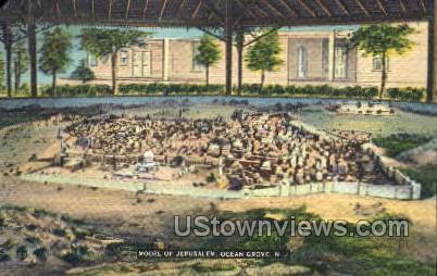 Model Of Jerusalem - Ocean Grove, New Jersey NJ Postcard