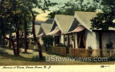 Avenue Of Tents - Ocean Grove, New Jersey NJ Postcard