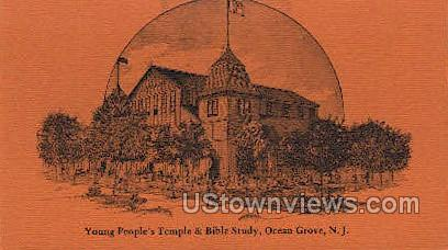 Young People Temple And Bible Study - Ocean Grove, New Jersey NJ Postcard