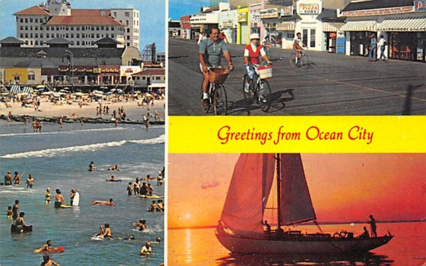 Greetings from Ocean City New Jersey Postcard