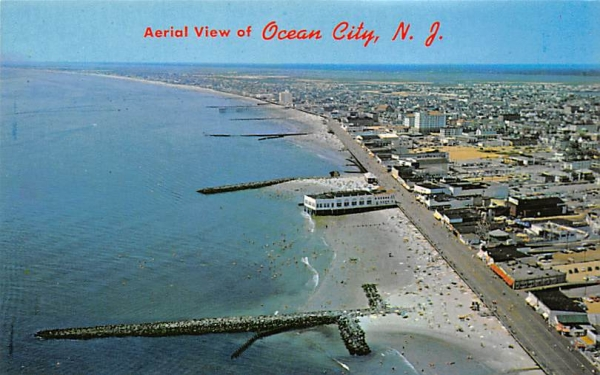 Aerial View of Ocean City New Jersey Postcard