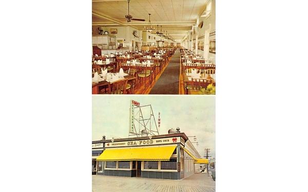 Simms' Restaurant Ocean City, New Jersey Postcard