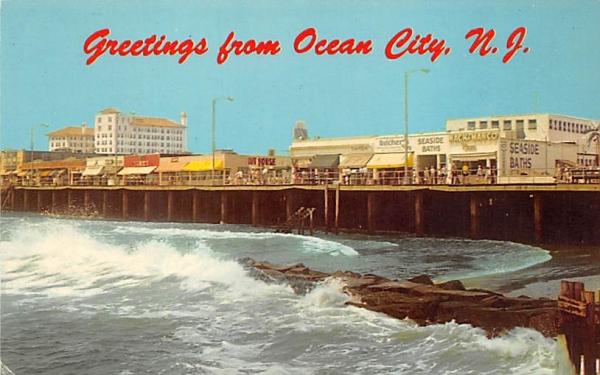 Ocean City Surf at High Tide New Jersey Postcard