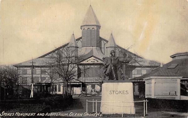 Stokes Mounument and Auditorium Ocean Grove, New Jersey Postcard