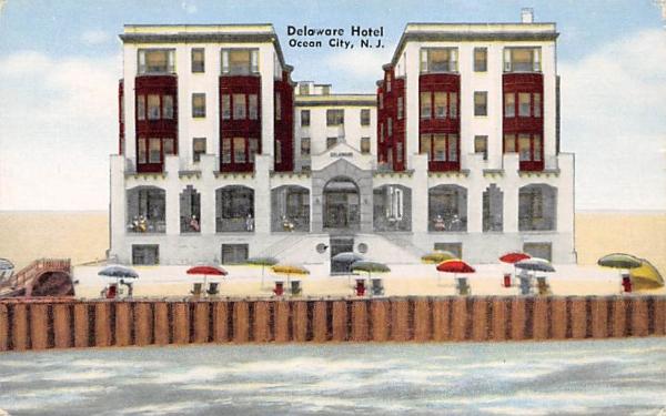 Delaware Hotel Ocean City, New Jersey Postcard