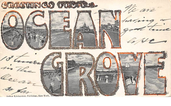 Greetings from Ocean Grove New Jersey Postcard