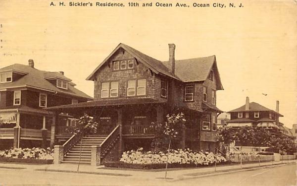 A. H. Sickler's Residence Ocean City, New Jersey Postcard