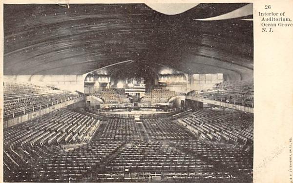 Interior of Auditorium Ocean Grove, New Jersey Postcard