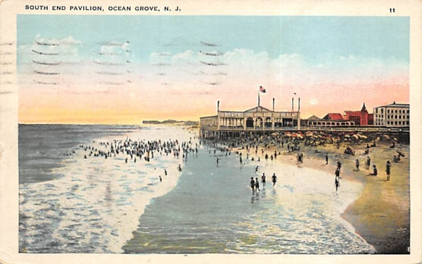South End Pavilion Ocean Grove, New Jersey Postcard