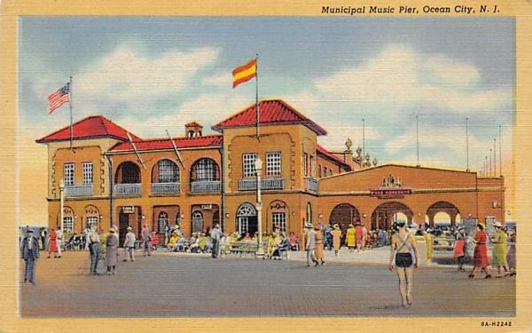 Municipal Music Pier Ocean City, New Jersey Postcard