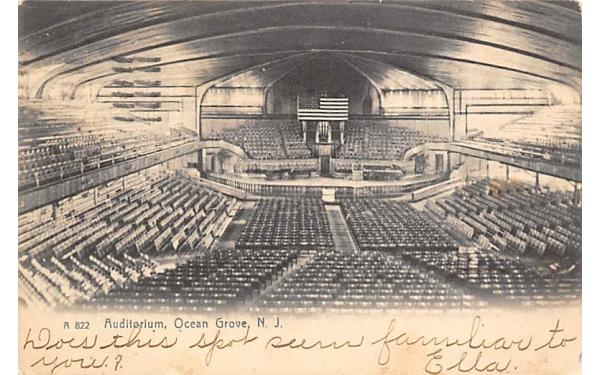 Auditorium Ocean Grove, New Jersey Postcard