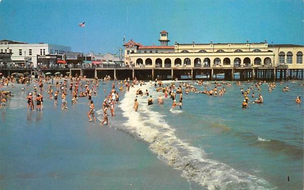Surf & Beach near Convention Hall Ocean City, New Jersey Postcard