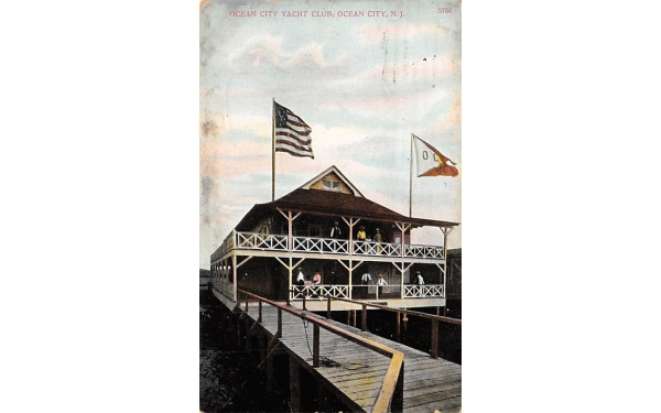 Ocean City Yacht Club New Jersey Postcard