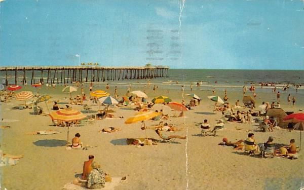 Beach and Fishing Pier Ocean City, New Jersey Postcard