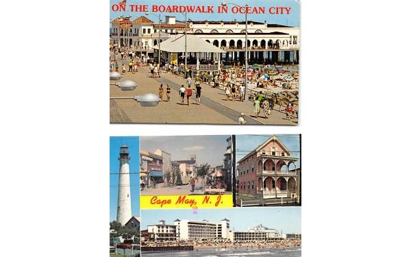 On the Boardwalk in Ocean City New Jersey Postcard
