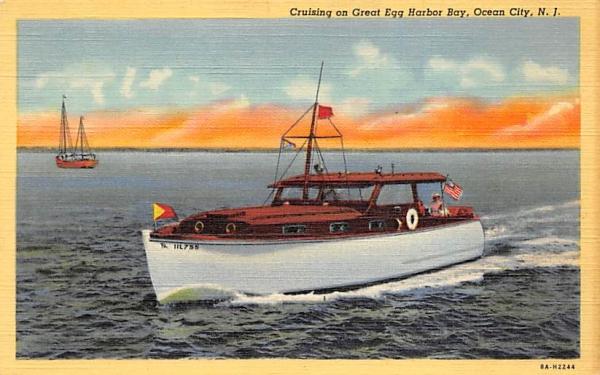 Cruising on Great Egg Harbor Bay Ocean City, New Jersey Postcard