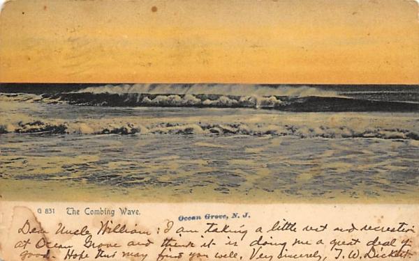 The Combing Wave Ocean Grove, New Jersey Postcard
