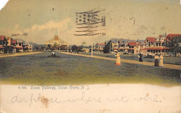 Ocean Pathway Ocean Grove, New Jersey Postcard