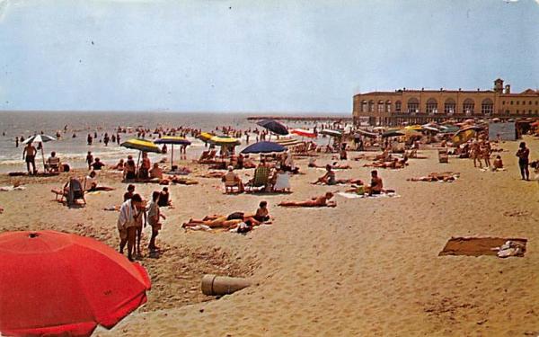Enjoying Surf and Sand Ocean City, New Jersey Postcard