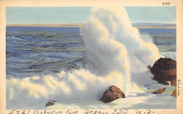 Wave Ocean City, New Jersey Postcard